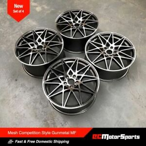 20 666 M 3 Style Wheels Gunmetal Machined Staggered For Bmw F30 328i 335i 340i