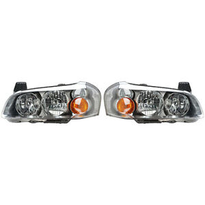 Fits 2002 2003 Nissan Maxima Head Light Pair Side