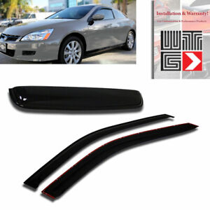Mad 3pc Window Sunroof Visor Shade Rain Guard For 2003 2007 Honda Accord Coupe