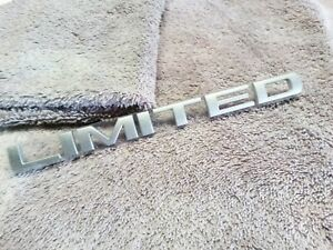 New Oem Limited Emblem Satin Finish