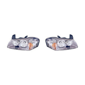 Fits 2002 2003 Nissan Maxima Head Light Pair