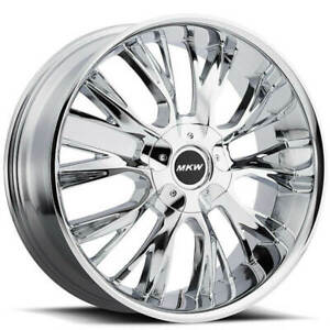 4 20 Mkw Wheels M122 Chrome Rims b4