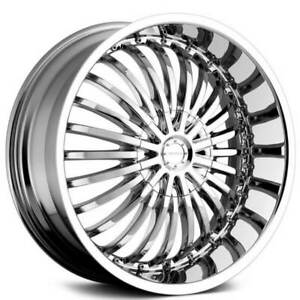 4 20 Strada Wheels Spina Chrome Rims b12