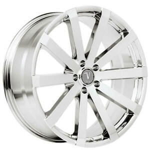 4 20 Velocity Wheels Vw12 Chrome Rims b12
