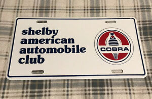 Vintage Shelby American Automobile Club License Plate Topper Ford Cobra 18
