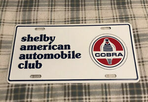 Vintage Shelby American Automobile Club License Plate Topper Ford Cobra 14