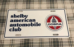 Vintage Shelby American Automobile Club License Plate Topper Ford Cobra 11