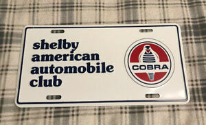 Vintage Shelby American Automobile Club License Plate Topper Ford Cobra 8