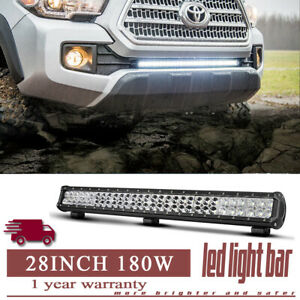 28 180w Led Work Light Bar Flood Spot Combo Work Lamp Fit Offroad Ford 4wd 26 30