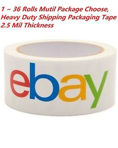 Lot 1 2 6 12 24 36 Rolls Official Ebay Packing Packaging Tape 2 X 75 Yards