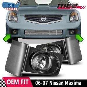 For Nissan Maxima 06 08 Driving Fog Lights Lamps Wiring And Switch Kit Clear