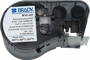 Brady M 91 427 Self laminating Vinyl Wire And Cable Labels Pack Of 2
