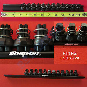 New Snap On 3 8 Black Quick Release Locking Clips Socket Rail Lsr3812a