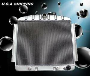 Kks 3 Row Performance Aluminum Radiator Fit1955 56 Chevy Bel Air 6cyl Core Supp