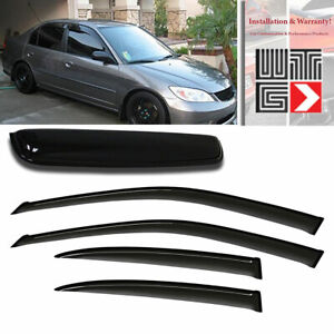 Mad Window Sunroof Visor Shade Guard For 2001 2005 Honda Civic Sedan 4 Door