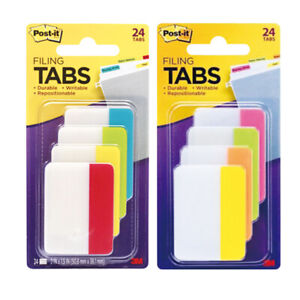 3m 686 ploy Post it Filing Tabs Durable Writable 24 Tabs select