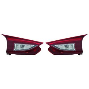 Fits 2014 2015 2016 2017 Mazda 3 H b Inner Led Tail Light Pair Ma2802113
