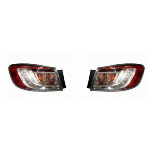 Fits 2010 2013 Mazda 3 Led Taillight Pair Lh rh Bulbs Incl Ma2800146 ma2801146