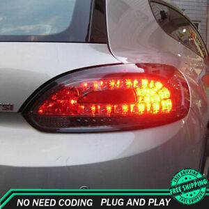 New For Vw Scirocco Led Taillights 2009 2014 Dark Led Rear Lamps Quality