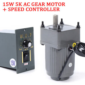 110v 15w 5k Ac Gear Motor Electric variable Speed Reduct Controller Us Shipping