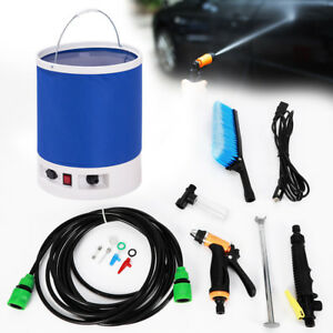 12v Portable Car Wash High Pressure Pump Sprayer Cleaning Washing Tool 18l Usa