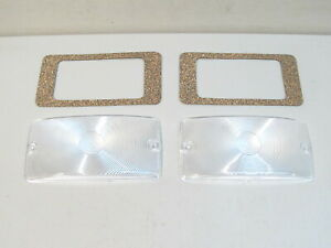 New 1959 1964 Ford Truck F100 F250 F350 Clear Parking Light Lenses
