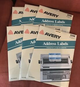 6 Avery Address Labels 1 1 2 X 4 Sealed Packages