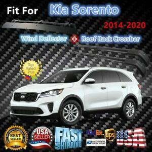 Top Roof Rack Fits Kia Sorento 2014 2020 Luggage Crossbar wind Deflector