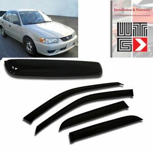 Mad 5pc Window Sunroof Visor Shade Sun Guard For Toyota Corolla 1998 2002 4dr