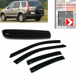 Mad 5pc Window Sunroof Visor Shade Rain Sun Guard For 2002 2006 Honda Crv