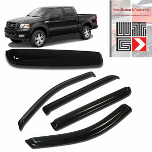 Mad 5pc Window Sunroof Visor Guard For 2004 2008 Ford F 150 Supercrew Crew Cab