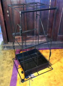 Vintage Metal Wire Umbrella Stand Rack For Canes Walking Stick Store Display