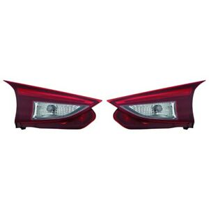 Fits 2014 2017 Mazda 3 Hatchback Inner Led Tail Light Pair Capa Ma2802113