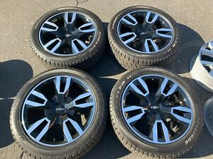 2020 Chevy Tahoe Factory 22 Wheels Tires Oem 5620 Black Silverado Suburban 1500