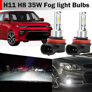 2x H11 H8 Led Fog Light Bulbs Conversion Kit Lamp 35w 6000k Hid Xenon White