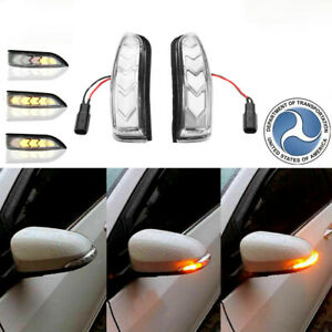 Sequential Mirror Led Side Turn Signal Lights For Toyota Yaris Vizt 2012 2018