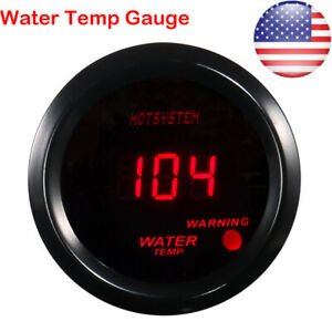 Car Auto 2 Red Digital Led Electronic Water Temp Temperature Gauge Us Shipping