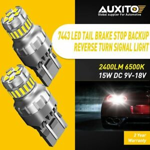 Auxito 7443 7444 Red Led Brake Turn Signal Tail Stop Light Bulb Backup Revers 2f