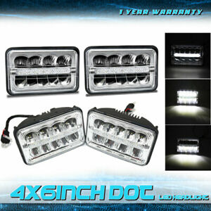 4p Dot Approved 4x6in Led Headlights For Vw Scirocco 1982 1988 Truck With Drl