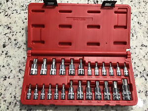 Mac Tools Smxt25b 25 Pc Star And Tamper Resistant Torx Driver Set