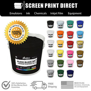 Ecotex Premium Plastisol Ink For Screen Printing All Sizes 24 Colors