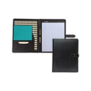 Samsill Leather Padfolio W Strap Blk 71740