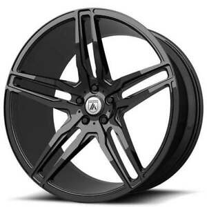 4 20 Staggered Asanti Wheels Abl 12 Orion Gloss Black Rims b9