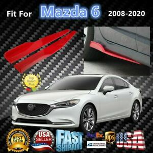 Fits Mazda 6 2008 2020 Red Side Skirts Splitters Spoiler Diffuser Wings
