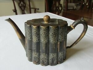 Antique 1830 94 Shaw Fisher England 9991 Silver Plated Fluted Filigree Teapot