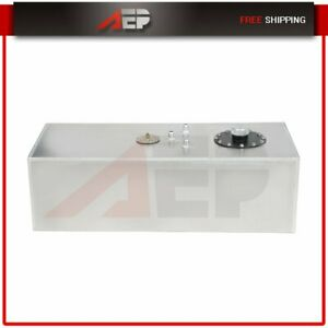 15 Gallon 57l Aluminum Racing Drift Fuel Cell Gas Tank Cap Level Sender