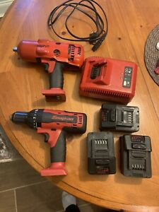 Snap On Cordless 1 2 Impact And Hammer Drill Lot