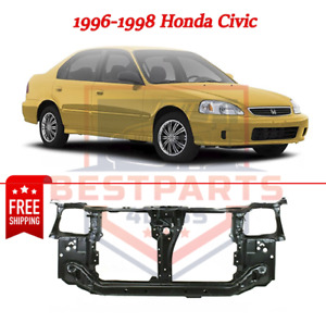 Black Steel Radiator Support Assembly For 96 98 Honda Civic Usa canada Built