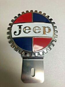 New Vintage Jeep License Plate Topper Chromed Brass Great Gift Item