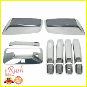 For 14 19 Chevy Silverado 1500 Chrome Door Handle Mirror Tailgate Cover Cam Hole